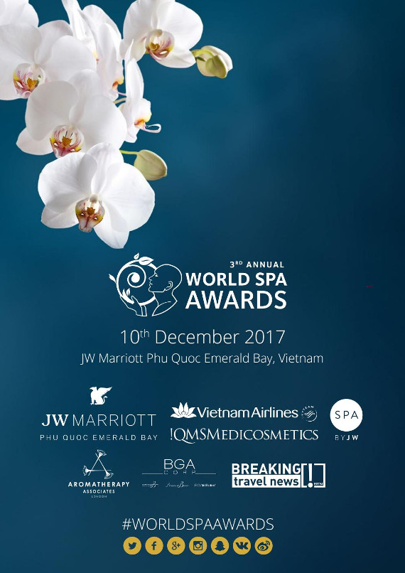 World Spa Awards 2017 event programme